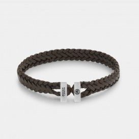 Rebel and Rose RR-L0110-S Armband Connected Woven Gordian Style Brown - M   M 19,5 cm 1