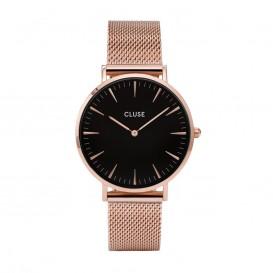 CLUSE CL18113 Horloge LA Boheme Mesh rosekleurig-zwart