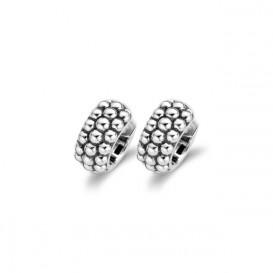TI SENTO - Milano 7574SI zilveren gerhodineerde Bolletjes oorringen 18 mm