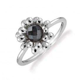 Rabinovich 65303030 Ring zilver geoxideerd met hematiet