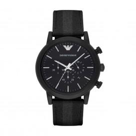 Emporio Armani Horloge Luigi staal/nato zwart-grijs AR1948