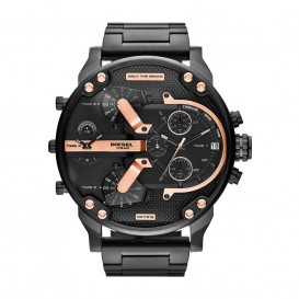 Diesel Horloge Chrono Mr. Daddy 2.0 staal zwart 57 mm  DZ7312