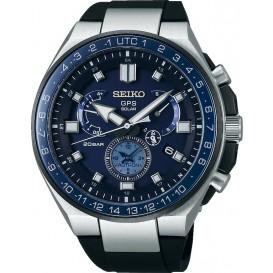 Seiko Astron horloge Astron Heren Duo timer Zwart SSE167J1