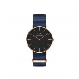 Daniel Wellington DW00100281 Classic Lady 36 mm Bayswater Black rosegold horloge