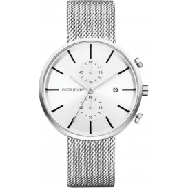 "Watch 625 Stainless Steel Sapphire Mesh Strap Jacob Jensen ""linear"". Horloge"