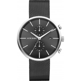 "Watch 626 Stainless Steel Sapphire Mesh Strap Jacob Jensen ""linear"" Horloge"
