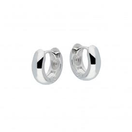 Best Basics Zilveren Klapcreolen - Ronde Buis 4 mm  107.0068.12