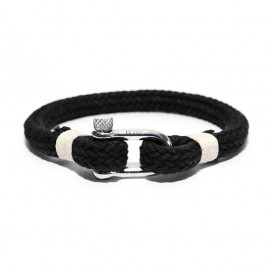 Frank 1967 Armband Rope Nylon/Staal zwart-beige one-size 7FB-0136