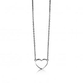 Zinzi ZIC1307 Zilveren collier met hartje