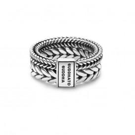 Buddha to Buddha 609 Barbara Double Ring Silver Maat 57 is 18mm