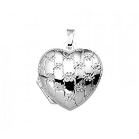Medaillon Hart Gravure Zilver  17,0 mm x 17,5 mm