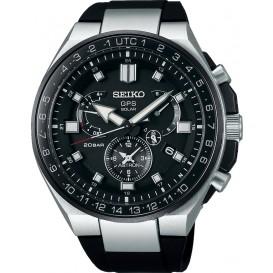 Seiko Astron horloge Astron Heren Duo timer Zwart SSE169J1