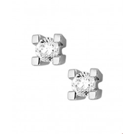 Oorknoppen Diamant 0.15 Ct. Witgoud Glanzend 4.5 mm x 4.5 mm