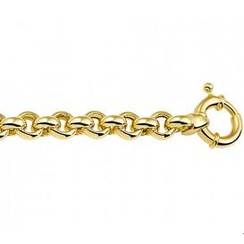 Zilgold Armband Witgoud Jasseron 7 mm 19.5 cm