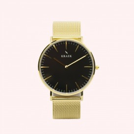 KRAEK Loa | Gold | Mesh 36 mm Dameshorloge
