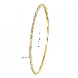 TFT Slavenband Goud Diamant 0.61ct H SI 1,5 X 60 mm