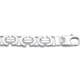 TFT Zilveren Ketting Konings Plat 8,5 mm