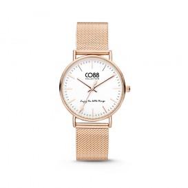 CO88 Collection 8CW-10001 - Horloge - mesh - rosékleurig - 36 mm