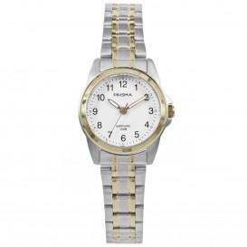 Prisma Dames P.1857 Horloge Edelstaal Saffier 10 ATM P.1857 Dameshorloge 1