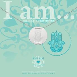 Heart to get IAM413N-HAMSA-S hamsa symbol ketting zilver