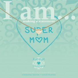 Heart to get IAM436N-SMOM-G super mom goud verguld ketting
