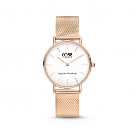 CO88 Collection 8CW 10078 Horloge - Mesh Band - Ø 32 mm - Rosékleurig