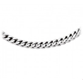 TFT Collier staal poli/mat 6 mm breed 55 cm lang
