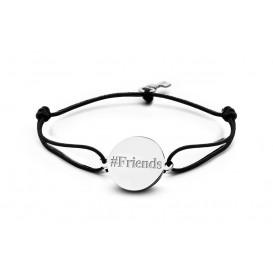 Key Moments 8KM-BE0003 Armband met bedel Friends en sleutel, one-size zilverkleurig