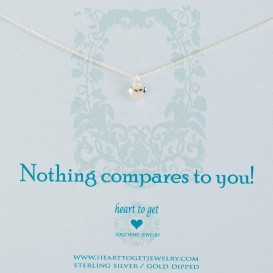 Heart to get N02SHE11S-2 Nothing compares to you ketting zilver