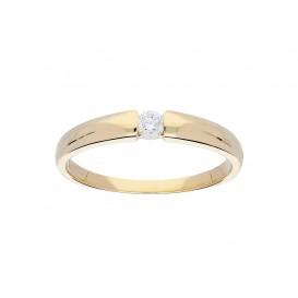 Glow Gouden Ring - Glanzend Diamant 1-0.1ct G/si  214.2000.50