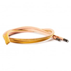 Trollbeads TLEBR-00025 Armband leder geel-lichtroze (retired)