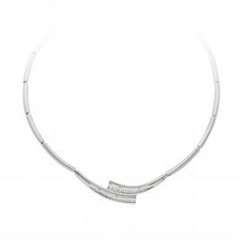 Zilveren ketting choker met zirconia 43-46 cm 103.6180.43