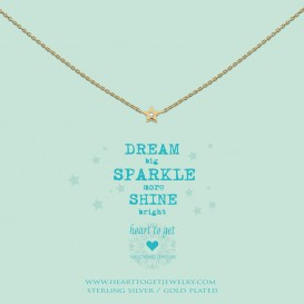 Heart to get N195STZ13G Dream big Sparkle more Shine bright ketting goud