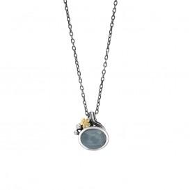 Rabinovich 70702803 Ketting zilver met goud, aquamarijn en briljant