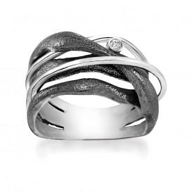 Rabinovich 70803006 Ring zilver met witte topaas Maat 58