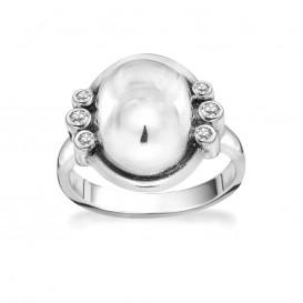 Rabinovich 70903044 Ring zilver ovaal met zirkonia Maat 56