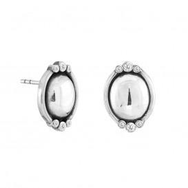Rabinovich 70905044 Oorbellen zilver ovaal met zirconia