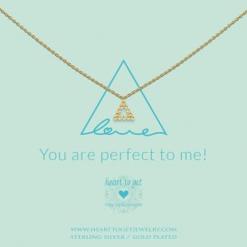 Heart to get N387TRI18G Necklace triangle You are perfect to me! gold