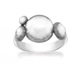 Rabinovich 71003000 Ring zilver met rondjes Maat 56