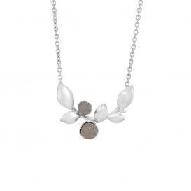 Rabinovich 71102056 Ketting zilver met grijze maansteen