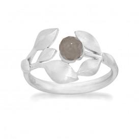 Rabinovich 71103056 Ring mat zilver met grijze maansteen Maat 54