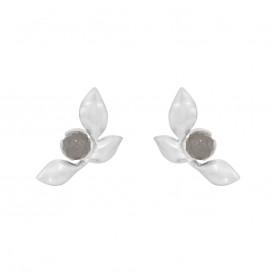 Rabinovich 71105056 Oorbellen mat zilver met grijze maansteen