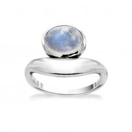 Rabinovich 71503021 Ring zilver met maansteen Maat 56