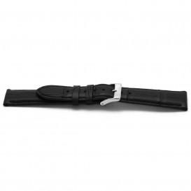 Horlogeband G134 Alligator Zwart Mat 20x18 mm K63.134G horloge 1