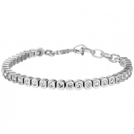 TFT Armband Staal Strass 5,0 mm 17,5 + 4 cm
