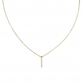 Glow Gouden Collier Met Hanger - Staaf 40+2cm 202.2038.42