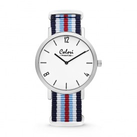 Colori Nato Phantom 5-COL490 - Horloge - nato - blauw/ wit/ rood - ø 42 mm