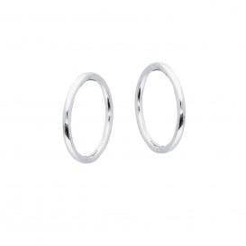 Best Basics Zilveren Klapcreolen - Ronde Buis 1mm  107.0070.12