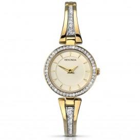Sekonda Horloge 2153 Dames Goud Strass SEK.2153 Dameshorloge 1