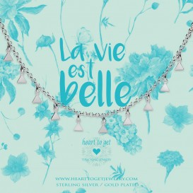 Heart to get BO246NTRI17S necklace dangling triangles silver La vie est belle